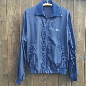 Lacoste blue light weight windbreaker jacket Large
